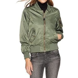Steve Madden Women's Satin Bomber Jacket Medium